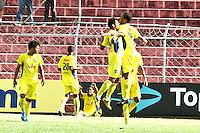SÃO PAULO,SP,17 JANEIRO 2013 - COPA SÃO PAULO JUNIOR - FERROVIARIA x AUDAX  - jogadores do Audax comemoram gol  durante partida Parana válido pelas oitavas de final da Copa são Paulo de Juniores no Estádio Nicolau Alayon na tarde desta quinta feira (17).FOTO ALE VIANNA - BRAZIL PHOTO PRESS.