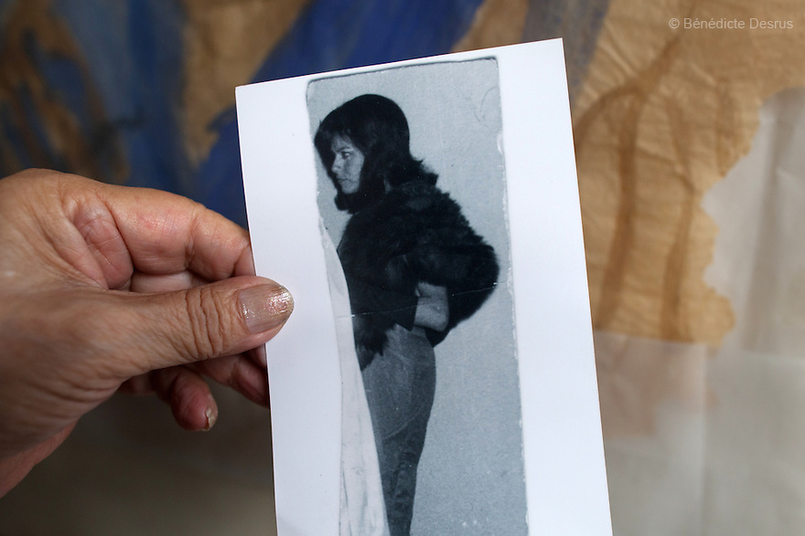 """September 29, 2015 - Mexico City, Mexico - An old photograph of Samantha, at age 32, the first time she dressed as a woman in Queretaro, Mexico. Samantha Flores is an 83-year-old transgender woman from Veracruz, Mexico. She is a prominent social activist for LGBTQI rights and is the founder of the non-profit organization """"Laetus Vitae"""", a day shelter for elderly gay people in Mexico City. Senior citizens in general are many times prone to neglect and abandonment by their families, leaving them all but invisible. Their plight can be even worse if they are homosexual. Photo credit: Bénédicte Desrus"""