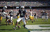 01 October 2005:  Penn State's Derrick Williams (2) celebrates after his first of 2 rushing TDs of the game.  Penn State Nittany Lions  defeated the Minnesota Golden Gophers  44-14 September 1, 2005 at Beaver Stadium in State College, PA..