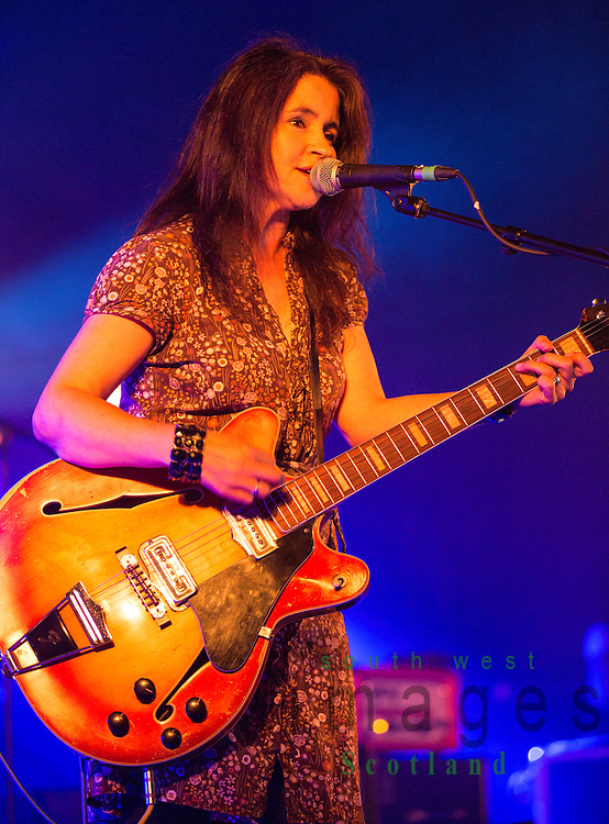 Electric Fields music festival at Drumlanrig Castle near Dumfries Scotland. Emma Pollock on stage