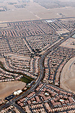 USA, Nevada, Las Vegas, a suburb of Las vegas is surrounded by the Mojave Desert, Sin City