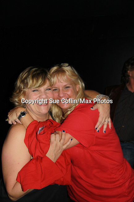 """One Life To Live and Guiding Light Kim Zimmer sings """"Desperado"""", I Will Stand By You and Pride & Joy and poses with Shelly at the 7th Annual Rock Show For Charity hosted by Kristen Alderson and Gina Tognoni and Bradley Cole to benefit American Red Cross - disaster relief efforts in Japan on October 8, 2011 at the SoHo Playhouse, New York City, New York. (Photo by Sue Coflin/Max Photos)"""