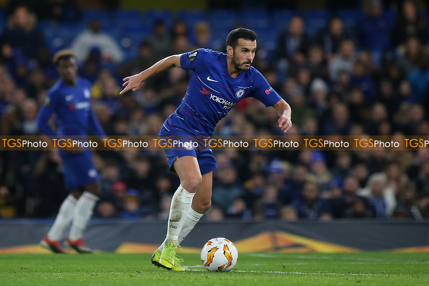 Pedro of Chelsea in action during Chelsea vs PAOK Salonika, UEFA Europa League Football at Stamford Bridge on 29th November 2018