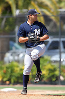 New York  Yankees Tom Kahnle #35 during a minor league spring training game against the Philadelphia Phillies at the Carpenter Complex on March 22, 2012 in Clearwater, Florida.  (Mike Janes/Four Seam Images)
