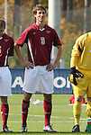 11 November 2008: Virginia Tech's Tobias Hormer (GER). North Carolina State University Wolfpack defeated the Virginia Tech Hokies 3-1 at Koka Booth Stadium at WakeMed Soccer Park in Cary, NC in a men's ACC tournament first round game.