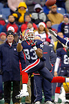 Buffalo Bills wide receiver Lee Evans (83) receives a pass for a 58 yard gain against the visiting New England Patriots at Ralph Wilson Stadium in Orchard Park, NY, on December 11, 2005 . The Patriots defeated the Bills 35-7. Mandatory Photo Credit: Ed Wolfstein
