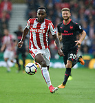 Saido Berahino of Stoke City during the premier league match at the Britannia Stadium, Stoke. Picture date 19th August 2017. Picture credit should read: Robin Parker/Sportimage