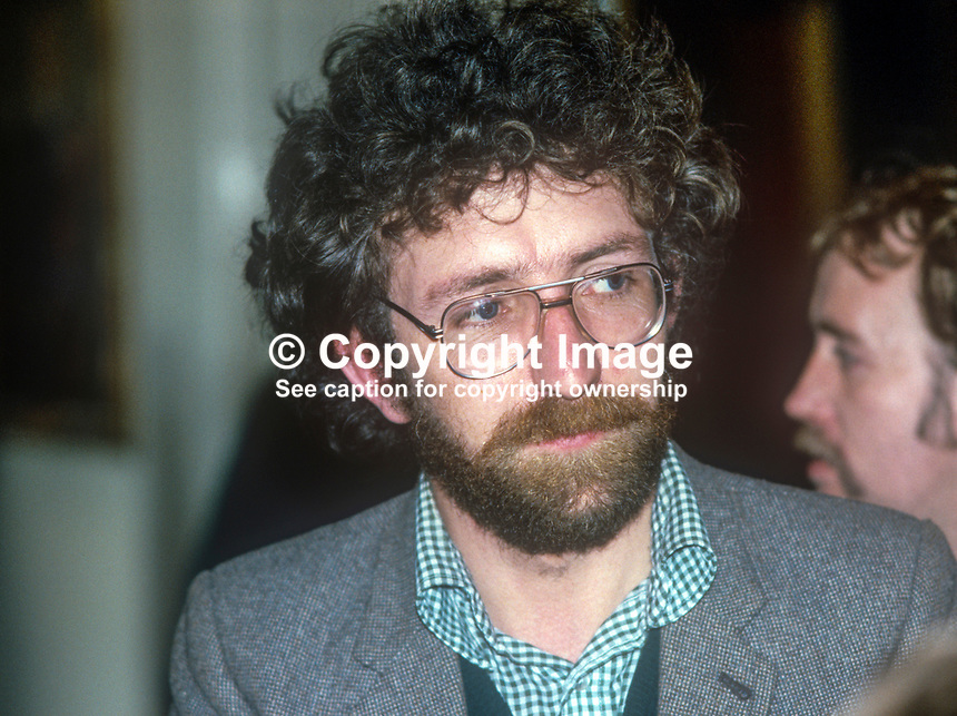 Fergus O&rsquo;Hare, IRSP, Irish Republican Socialist Party, city councillor, Belfast, N Ireland, UK, January, 1982, 1982155FOH2<br />
