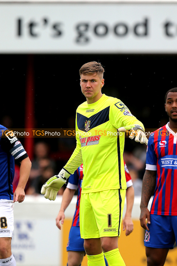 Jesse Joronen of Stevenage during Dagenham and Redbridge vs Stevenage, Sky Bet League 2 Football at the London Borough of Barking and Dagenham Stadium, London, England on 29/08/2015