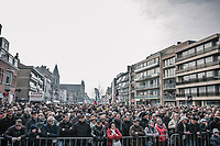 massive crowd at the start in Deinze (BEL) for the 81st Gent-Wevelgem in Flanders Fields (1.UWT)<br /> <br /> Deinze &gt; Wevelgem (251km)
