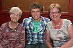 Graham O'Brien with his Nana and his Auntie at his 18th in Harrys....Photo NEWSFILE/Jenny Matthews.(Photo credit should read Jenny Matthews/NEWSFILE)....This Picture has been sent you under the condtions enclosed by:.Newsfile Ltd..The Studio,.Millmount Abbey,.Drogheda,.Co Meath..Ireland..Tel: +353(0)41-9871240.Fax: +353(0)41-9871260.GSM: +353(0)86-2500958.email: pictures@newsfile.ie.www.newsfile.ie.FTP: 193.120.102.198.