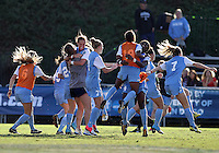 SAN DIEGO, CA - DECEMBER 02, 2012:  Players of the University of North Carolina at the end of the NCAA 2012 women's college championship match, at Torero Stadium, in San Diego, CA, on Sunday, December 02 2012. Carolina won 4-1.