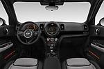 Stock photo of straight dashboard view of a 2018 Mini Countryman Oakwood 5 Door Hatchback