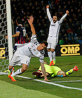 Mario Mandzukic  and Gonzalo Higuain  during the  italian serie a soccer match,between Crotone and Juventus      at  the Scida   stadium in Crotone  Italy , February 08, 2017