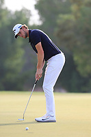Thomas Pieters (BEL) on the 15th green during the 2nd round of the DP World Tour Championship, Jumeirah Golf Estates, Dubai, United Arab Emirates. 16/11/2018<br /> Picture: Golffile | Fran Caffrey<br /> <br /> <br /> All photo usage must carry mandatory copyright credit (© Golffile | Fran Caffrey)