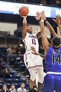 Washington, DC - December 22, 2018: Howard Bison guard Charles Williams (13) makes a shot during the DC Hoops Fest between Hampton and Howard at  Entertainment and Sports Arena in Washington, DC.   (Photo by Elliott Brown/Media Images International)