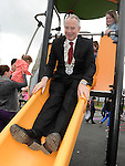 Chairperson of Louth County Council Cllr Oliver Tully pictured at the opening new playground in Dunleer. Photo: Colin Bell/pressphotos.ie