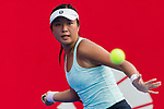 Eudice Chong of Hong Kong competes against Christina Mchale of the United States vs during the singles first round match at the WTA Prudential Hong Kong Tennis Open 2018 at the Victoria Park Tennis Stadium on 09 October 2018 in Hong Kong, Hong Kong. Photo by Yu Chun Christopher Wong / Power Sport Images