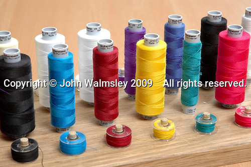 Bobbins in a secondary school textiles class