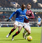 01.12.2019 Rangers v Hearts: Glen Kamara and Craig Halkett