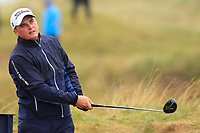 James Sugrue (IRL)(AM) on the 8th tee during the preview of the the 148th Open Championship, Portrush golf club, Portrush, Antrim, Northern Ireland. 17/07/2019.<br /> Picture Thos Caffrey / Golffile.ie<br /> <br /> All photo usage must carry mandatory copyright credit (© Golffile | Thos Caffrey)