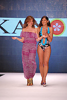 Kanomi Swimwear-Venezula Designer and Model at Miami Beach International Fashion Week, Miami Beach Convention Center, Miami, FL - March 3, 2011