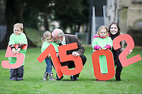 "NO REPRO FEE. 18/11/2010. METEOR CHRISTMAS TEXT APPEAL. Actress and Barnardos Ambassador Sarah Bolger and Barnardos CEO Fergus Finlay are pictured with Thomas Donoghue 3, Ruby Glynn 2 and Alice Davies 3 in the grounds of IMMA to launch the Meteor Christmas text appeal to raise urgently needed funds for Barnardos this Christmas. Meteor customers can donate EUR2 with every cent going to the charity, by simply texting ""Barnardos"" tp 57502. Picture James Horan/Collins Photos"