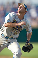 UCLA 1B Dean Espy in Game 11 of the NCAA Division One Men's College World Series on June 25th, 2010 at Johnny Rosenblatt Stadium in Omaha, Nebraska.  (Photo by Andrew Woolley / Four Seam Images)