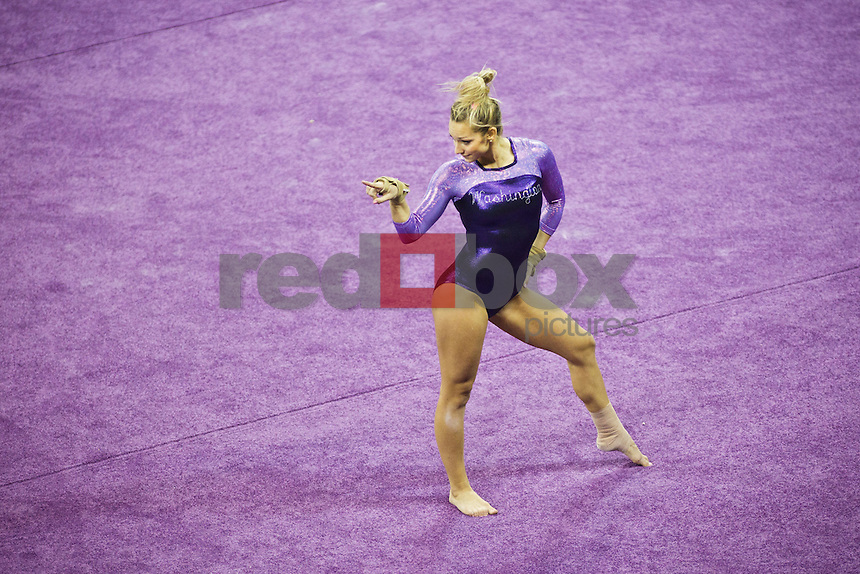 Paige Bixler..----Washington Huskies gymnastics tri-meet vs Louisiana State University and Seattle Pacific University at Alaska Airlines Arena at Hec Edmundson Pavilion in Seattle on Friday, February 17, 2012. (Photo by Dan DeLong/Red Box Pictures)
