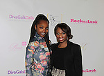 Maame Yaa Boafo & Delaina Dixon at Color of Beauty Awards hosted by VH1's Gossip Table's Delaina Dixon and Maureen Tokeson-Martin on February 28, 2015 with red carpet, awards and cocktail reception at Ana Tzarev Gallery, New York City, New York.  (Photo by Sue Coflin/Max Photos)