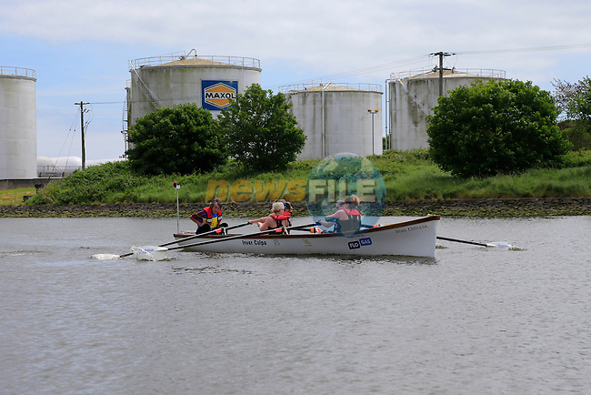 Flo Gas sponsored Boat in the Clogherhead to Drogheda rowing race.<br /> Picture:  www.newsfile.ie
