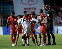 CALI-COLOMBIA , 02-05-2019.Cristian Álvarez Jugador del América de  Cali ante el Cúcuta Deportivo durante partido por la fecha 19 de la Liga Águila I 2019 jugado en el estadio Pascual Guerrero de la ciudad de Cali./ Crsitian Alvarez  player of America de Cali   agaisnt of Cucuta Deportivo during the match for the date 19 of the Aguila League I 2019 played at Pascual Guerrero stadium in Cali city. Photo: VizzorImage/ Nelson Rios / Contribuidor