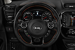 Car pictures of steering wheel view of a 2017 KIA Soul Exclaim 5 Door Hatchback Steering Wheel