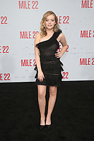 "9 August 2018-  Westwood, California - Jade Pettyjohn. Premiere Of STX Films' ""Mile 22"" held at The Regency Village Theatre. Photo Credit: Faye Sadou/AdMedia"
