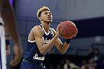 HIGH POINT, NC - JANUARY 06: Charleston Southern's Christian Keeling. The High Point University of Panthers hosted the Charleston Southern University Buccaneers on January 6, 2018 at Millis Athletic Convocation Center in High Point, NC in a Division I men's college basketball game. HPU won the game 80-59.
