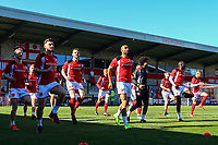 Fleetwood Town team warming up prior to the match<br /> <br /> Photographer Leila Coker/CameraSport<br /> <br /> The EFL Sky Bet League One - Fleetwood Town v Walsall - Saturday 5th May 2018 - Highbury Stadium - Fleetwood<br /> <br /> World Copyright &copy; 2018 CameraSport. All rights reserved. 43 Linden Ave. Countesthorpe. Leicester. England. LE8 5PG - Tel: +44 (0) 116 277 4147 - admin@camerasport.com - www.camerasport.com<br /> <br /> Photographer Leila Coker/CameraSport<br /> <br /> The EFL Sky Bet League One - Fleetwood Town v Walsall - Saturday 5th May 2018 - Highbury Stadium - Fleetwood<br /> <br /> World Copyright &copy; 2018 CameraSport. All rights reserved. 43 Linden Ave. Countesthorpe. Leicester. England. LE8 5PG - Tel: +44 (0) 116 277 4147 - admin@camerasport.com - www.camerasport.com
