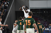 1st November 2019, Yokohama, Japan;  Maro Itoje of England catches the ball from the line-out during the 2019 Rugby World Cup Final match between England and South Africa at the International Stadium Yokohama in Yokohama, Kanagawa, Japan on November 2, 2019.