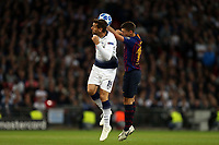 Clement Lenglet of FC Barcelona and Fernando Llorente of Tottenham Hotspur during Tottenham Hotspur vs FC Barcelona, UEFA Champions League Football at Wembley Stadium on 3rd October 2018
