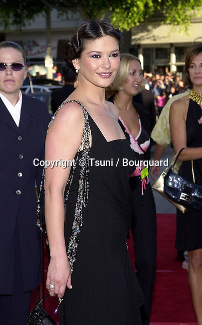 Catherine Zeta Jones posing at the premiere of 'America's Sweethearts' at the Village Theater in Los Angeles, Ca. 7/17/01.           -            JonesCatherineZeta04.jpg