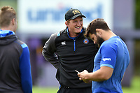 Bath Rugby Player Development Director Stuart Hooper looks on during the pre-match warm-up. Pre-season friendly match, between Bristol Rugby and Bath Rugby on August 12, 2017 at the Cribbs Causeway Ground in Bristol, England. Photo by: Patrick Khachfe / Onside Images