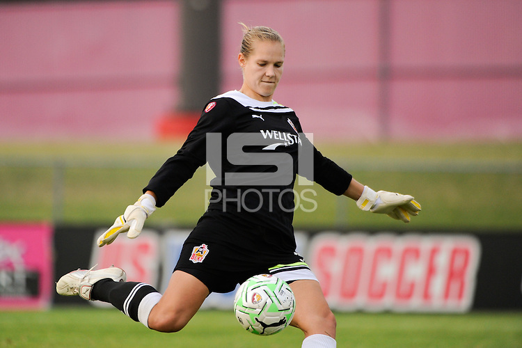 Atlanta Beat goalkeeper Allison Whitworth (31). Sky Blue FC defeated the Atlanta Beat 1-0 during a Women's Professional Soccer (WPS) match at Yurcak Field in Piscataway, NJ, on June 22, 2011.
