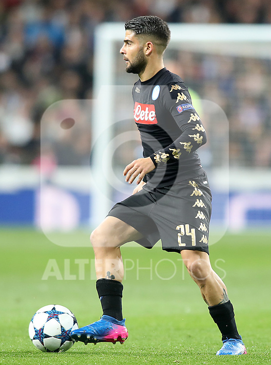 SSC Napoli's Lorenzo Insigne during Champions League 2016/2017 Round of 16 1st leg match. February 15,2017. (ALTERPHOTOS/Acero)