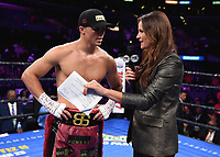 "LOS ANGELES - SEPTEMBER 28:  Joey Spencer and Heidi Androl at the Fox Sports PBC ""Fight Night"" - Errol Spence Jr. vs Shawn Porter on September 28, 2019 in Los Angeles, California. (Photo by Frank Micelotta/Fox Sports/PictureGroup)"