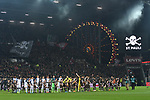 08.11.2019,  GER; 2. FBL, FC St. Pauli vs VfL Bochum ,DFL REGULATIONS PROHIBIT ANY USE OF PHOTOGRAPHS AS IMAGE SEQUENCES AND/OR QUASI-VIDEO, im Bild Feature die Fankurve von Pauli mit beleuchteten Riesenrad vom Hamburger Dom im Hintergrund und eingelaufenen Mannschaften im Vordergrund Foto © nordphoto / Witke *** Local Caption ***