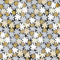 Flowers, a glass waterjet mosaic shown in Opal, Moonstone, Agate and Amber, is part of the Erin Adams Collection for New Ravenna Mosaics.<br />