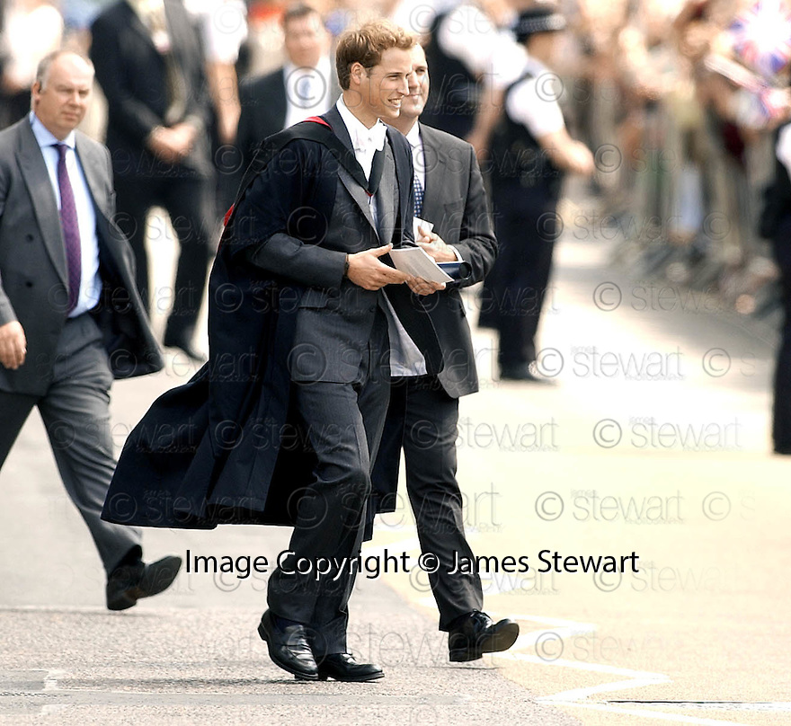 23/06/2005         Copyright Pic : James Stewart.File Name : sct_jspa01 wills graduation.PRINCE WILLIAM GREETS THE CROWDS AFTER HIS GRADUATION FROM ST ANDREWS UNIVERSITY......Payments to :.James Stewart Photo Agency 19 Carronlea Drive, Falkirk. FK2 8DN      Vat Reg No. 607 6932 25.Office     : +44 (0)1324 570906     .Mobile   : +44 (0)7721 416997.Fax         : +44 (0)1324 570906.E-mail  :  jim@jspa.co.uk.If you require further information then contact Jim Stewart on any of the numbers above.........