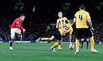 Wayne Rooney of Manchester United takes a shot on goal - FA Cup Fourth Round replay - Manchester Utd  vs Cambridge Utd - Old Trafford Stadium  - Manchester - England - 03rd February 2015 - Picture Simon Bellis/Sportimage