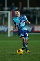 Matt Bloomfield of Wycombe Wanderers during the Sky Bet League 2 match between Newport County and Wycombe Wanderers at Rodney Parade, Newport, Wales on 22 November 2016. Photo by Mark  Hawkins.