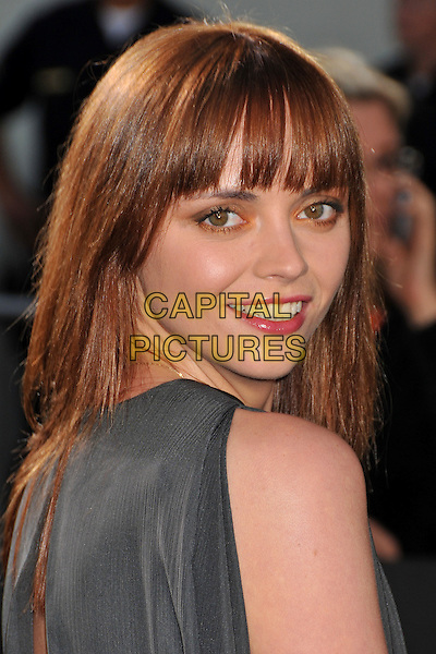 "CHRISTINA RICCI .""Bruno"" Los Angeles Premiere held at Grauman's Chinese Theatre, Hollywood, CA, USA..June 25th, 2009 .headshot portrait fringe bangs grey gray looking over shoulder .CAP/ADM/BP.©Byron Purvis/AdMedia/Capital Pictures."