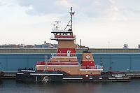 Tugboat Ruth M. Reinauer moored in Erie Basin